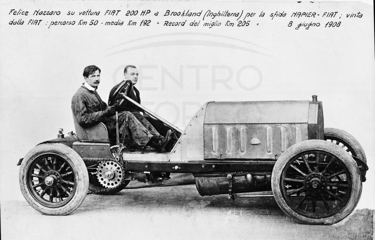 Nazzaro su 200 HP-NB4 corsa-1908