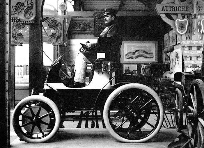 Prototipo di Egger-Lohner alla Esposizione Universale di Parigi, 4 aprile 1900