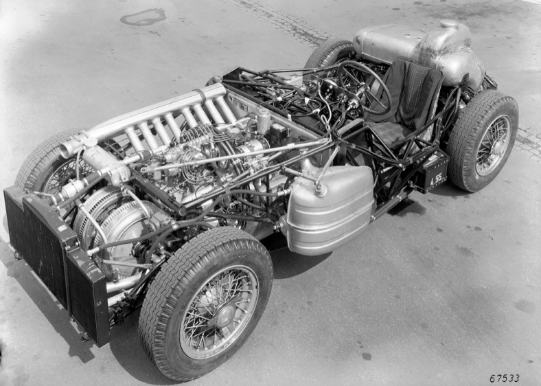 Chassis of the 300 SLR 1955 - it is the straight eight engine